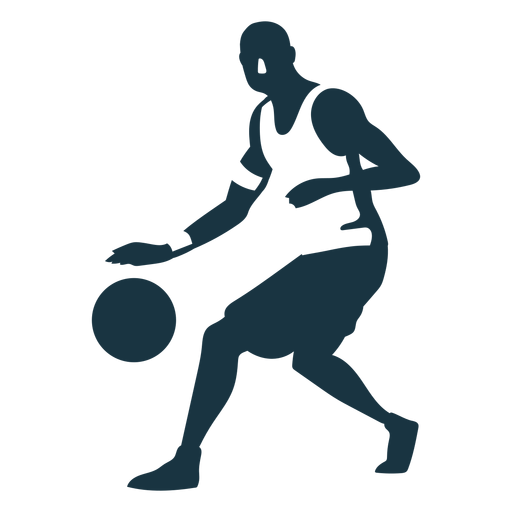 Basketball player ball player shorts bald detailed silhouette Transparent PNG