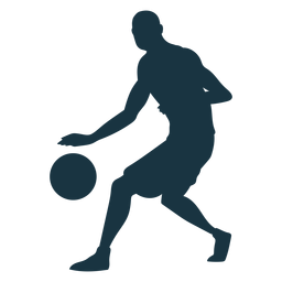 Jogador de basquete bola jogador shorts calvo silhueta