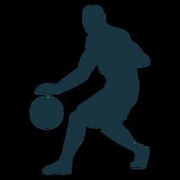 Jugador de baloncesto jugador de pelota pantalones cortos silueta calva