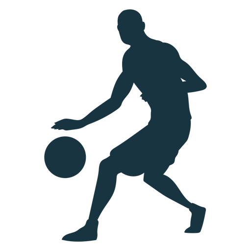 Basketball player ball player shorts bald silhouette Transparent PNG