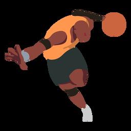 Basquete jogador bola jogador calções dedo palma plana