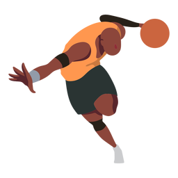 Jugador de baloncesto jugador de pelota pantalones cortos dedo palma plana