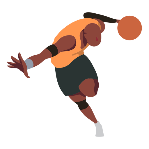 Jugador de baloncesto jugador de pelota pantalones cortos planos