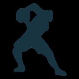 Basketball-Spieler-Ballspielershortsschattenbild