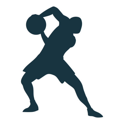 Basketball player ball player shorts silhouette Transparent PNG