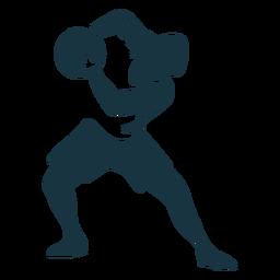 Basquete jogador bola jogador calções t camisa careca silhueta detalhada