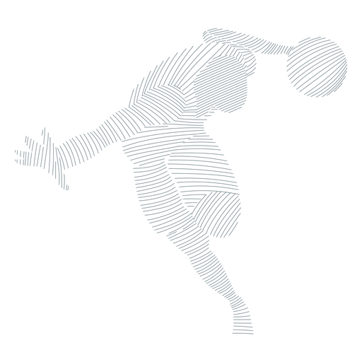 Basketball player shorts striped silhouette Transparent PNG