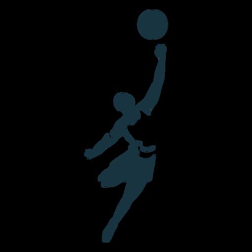 Jugador de baloncesto jugador de pelota pantalones cortos camiseta tiro silueta detallada