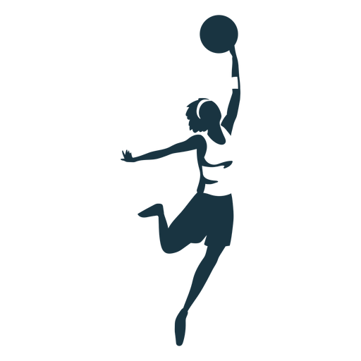 Basketball player female ball player shorts accessory t shirt detailed silhouette Transparent PNG