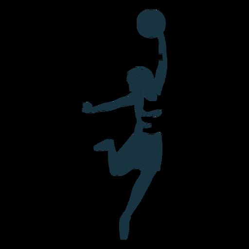 Jugador de baloncesto femenino pelota jugador pantalones cortos accesorio camiseta detallada silueta Transparent PNG