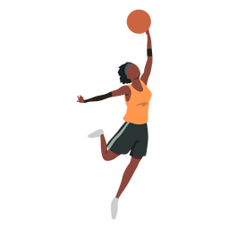 Basketball player female ball player shorts accessory t shirt flat