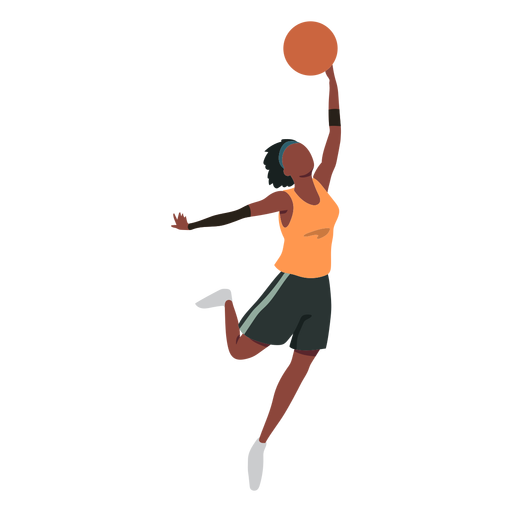 Basketball player female ball player shorts accessory t shirt flat Transparent PNG