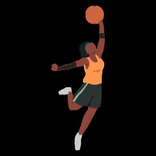 Basketball player female ball player shorts accessory t shirt flat