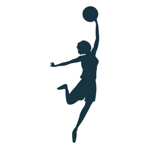 Basketball player female ball player shorts t shirt silhouette Transparent PNG