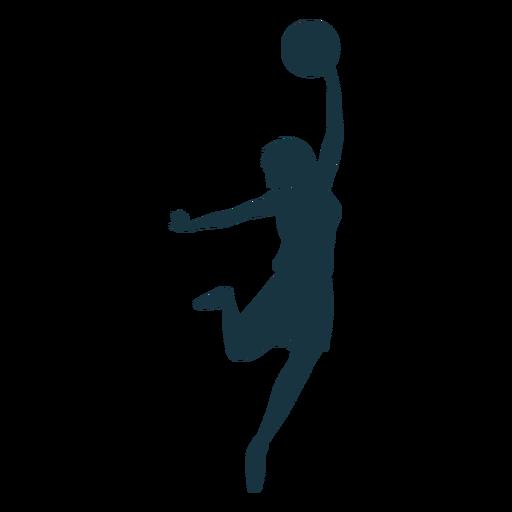 Jugador de baloncesto femenino pelota jugador pantalones cortos camiseta silueta Transparent PNG