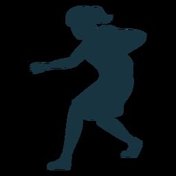 Jugador de baloncesto pelota femenina jugador corriendo pantalones cortos accesorio camiseta silueta