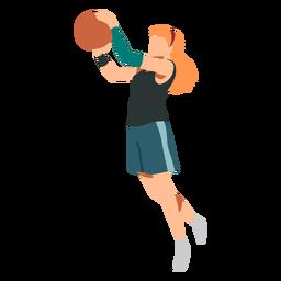 Jugador de baloncesto jugador de pelota de pelo femenino pantalones cortos accesorio camiseta plana