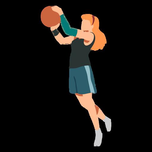 Basketball player female hair ball player shorts accessory t shirt flat