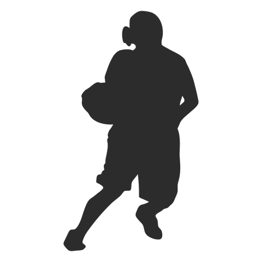 Basketball player female player ball posture silhouette Transparent PNG