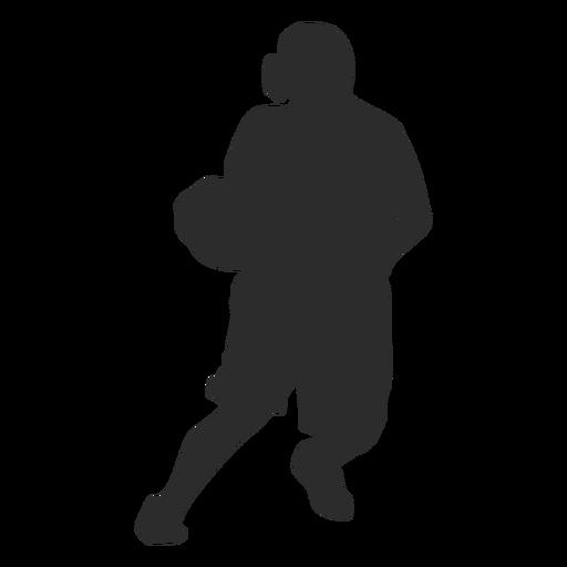 Jugador de baloncesto femenino jugador pelota postura silueta Transparent PNG