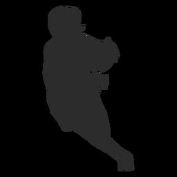 Baloncesto jugador femenino jugador pelota corriendo pelo cola de caballo silueta