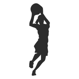 Basketball player female player ball shorts hair ponytail silhouette