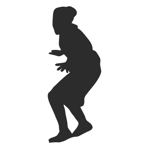 Basketball player female player finger palm silhouette Transparent PNG