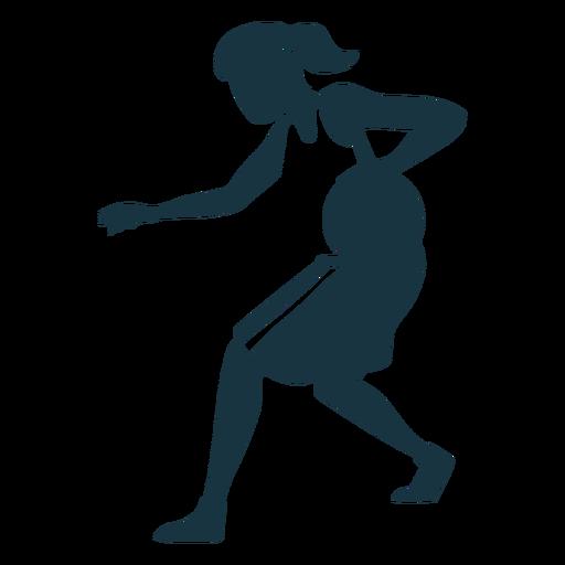 Jugador de baloncesto mujer corriendo pelota jugador pelo atar cortocircuitos accesorio camiseta detallada silueta Transparent PNG