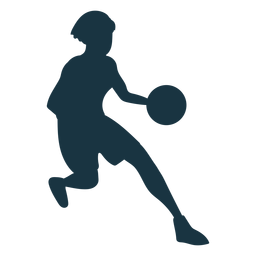 Basketball player female running ball player outfit silhouette