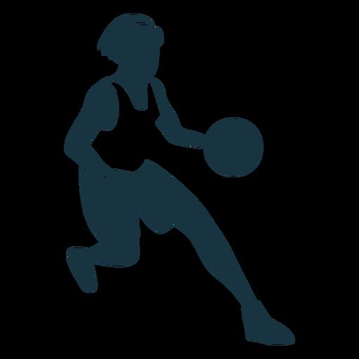 Jugador de baloncesto mujer corriendo pelota jugador pantalones cortos accesorio camiseta detallada silueta Transparent PNG