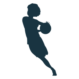 Jugador de baloncesto mujer corriendo pelota jugador pantalones cortos accesorio camiseta silueta