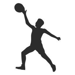 Jugador de baloncesto jugador pelota mano pierna silueta