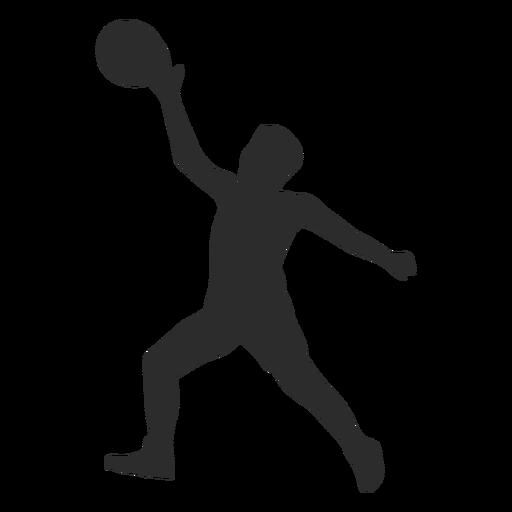 Jugador de baloncesto jugador pelota mano pierna silueta Transparent PNG