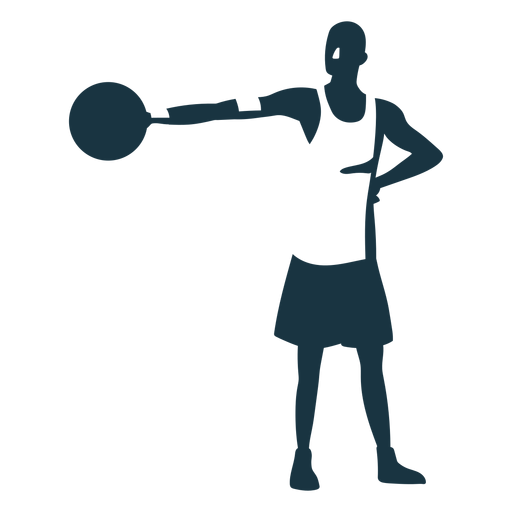 Basketball player player ball shorts bald t shirt detailed silhouette Transparent PNG