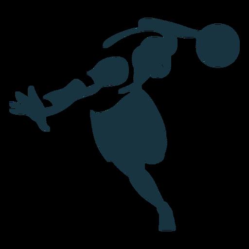 Ausführliches Schattenbild der Basketball-Spielerspieler-Ballkurzschlüsse Fingerpalme Transparent PNG