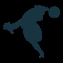 Basketball player ball silhouette