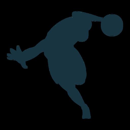 Silueta de pelota de jugador de baloncesto