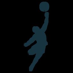 Baloncesto jugador jugador pelota cortos dedo tiro silueta