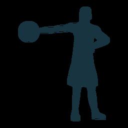 Basketball-Spieler-Spieler-Ballkurzschlussschattenbild