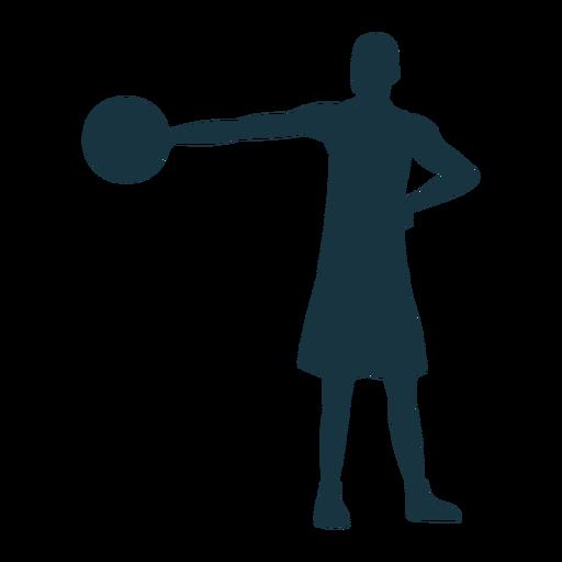 Jugador de baloncesto jugador pelota pantalones cortos silueta