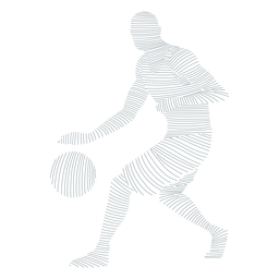 Jogador de basquete jogador bola shorts camiseta silhueta listrada careca