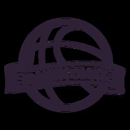 Distintivo de bola de basquete