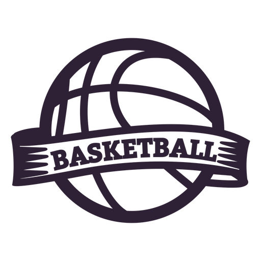 Basketball ball badge Transparent PNG