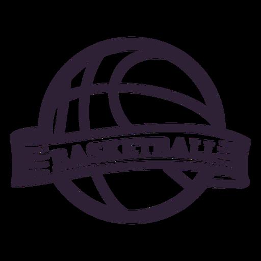 Insignia de la pelota de baloncesto Transparent PNG