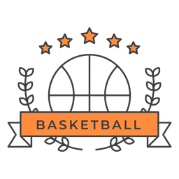 Basketball ball branch badge sticker