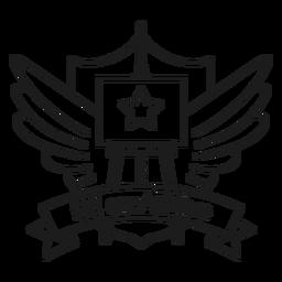 Seja o punho do emblema da asa da estrela da armação creartive