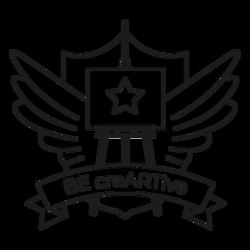 Seja o punho do emblema da asa da estrela da armação creartive Transparent PNG