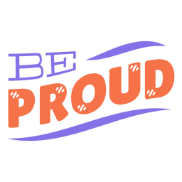 Be proud stripe sticker