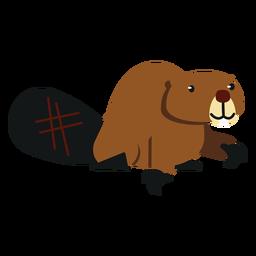 Garra de roedor cauda cauda castor arredondada plana