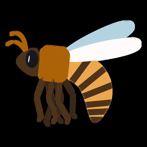 Vespa de abelha asa de vespa arredondada plana Transparent PNG